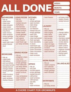 Chore chart for teens awesome scrimpalicious cooking keeping making saving how to succeed at homemaking without really free printable spring cleaning checklist Teen Chore Chart, Free Printable Chore Charts, Adult Chore Chart, Roommate Chore Chart, Free Printables, Chores Chart For Teens, Family Chore Charts, Flylady, Deep Cleaning