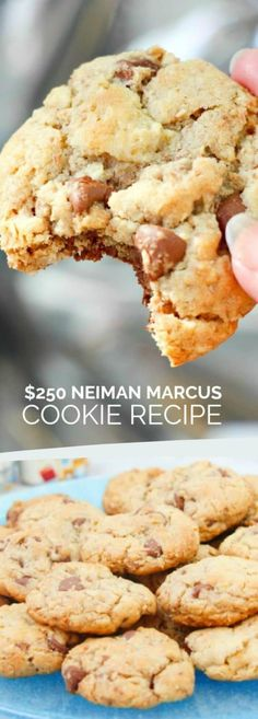 Neiman Marcus Cookie Recipe - Spaceships and Laser Beams Delicious Cookie Recipes, Yummy Cookies, Dessert Recipes, Yummy Food, Bar Cookies, Cookie Bars, Pie Recipes, Dessert Ideas, Sweet Recipes