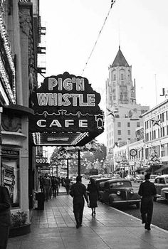 California History, Vintage California, Southern California, Hollywood Vintage, Classic Hollywood, Los Angeles Hollywood, Hollywood Boulevard, Hollywood Hotel, City Of Angels