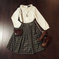 Images of cute vintage outfits - Cute Vintage Outfits, Vintage Inspired Outfits, Fall Outfits, Casual Outfits, Fashion Outfits, Estilo Hippie, Looks Street Style, Mode Chic, Vintage Mode