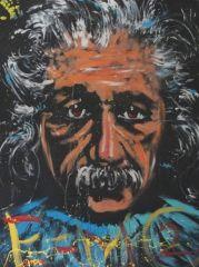 Albert Einstein painting by Denny Dent