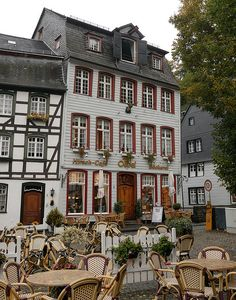 Hirsch Cafe in Monschau, Germany (by albionphoto).