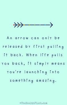 An arrow can only be... http://thehealthflash.stfi.re/inspirational-quotes/ #inspirationalquotes