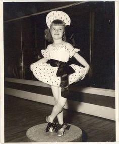 Vtg-Photograph-Little-Girl-Posing-for-Dance-Black-White-Montgomery-AL-8x10