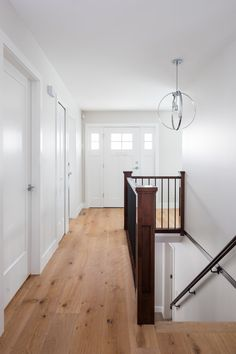 Hallway and stairway designed by Madeleine Design Group in Vancouver, BC. *Re-pin this to your own inspiration board*
