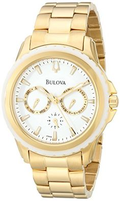 Bulova Women's 97N103 Analog Display Analog Quartz Gold Watch * Read more reviews of the product by visiting the link on the image.