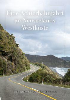 Eine Fahrt an der Westküste Neuseelands ist lustig! Zumindest wenn man am Steuer sitzt. Als Beifahrer sollte man sicherheitshalber ein Speibsackerl dabei haben. New Zealand, Country Roads, New Zealand South Island, National Forest, Vest, Funny, Travel