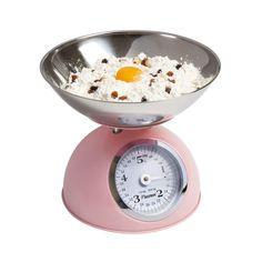 Bestro Pastel Pink Retro Kitchen Weighing Scales