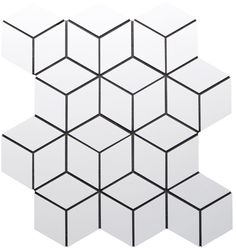 Mosaic diamond cube tile.