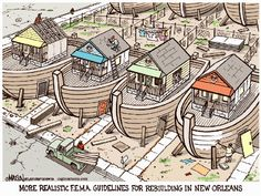 But seriously, if you build in a flood zone, you know it will flood. I don't know why people seem surprised and upset when these things happen.