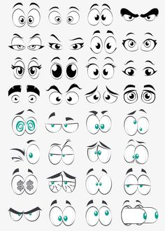 Cartoon Eye Collection Element, Big Eyes, Round Eyes, Cartoon Eyes PNG Transparent Clipart Image and Cartoon Faces Expressions, Cartoon Expression, Eye Expressions, Cartoon Kunst, Cartoon Drawings, Cartoon Art, Easy Drawings, Cartoon Graffiti, Cartoon Makeup