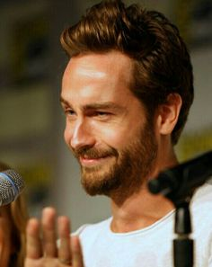 Love this face. SDCC panel. I love when he genuinely cracks himself up.