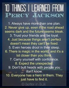 10 Things I Learned From Percy Jackson. Can you believe that it has been 10 YEARS since The Lightning Thief originally came out? I love that adults and kids can enjoy this book series by Rick Riordan just as much. Percy Jackson Quotes, Percy Jackson Books, Percy Jackson Fandom, Percy Jackson Birthday, Magnus Chase, The Lightning Thief, Lightning Storms, Rick Riordan Books, Percabeth