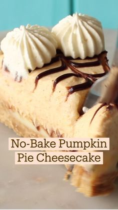 Pumpkin Pie Cheesecake, No Bake Pumpkin Pie, Baked Pumpkin, Pumpkin Dessert, Pumpkin Recipes, Fall Recipes, Sweet Recipes, Banana Cheesecake, Cheesecake Bars