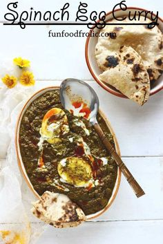 The idea of Palak Anda Curry sounds so much exciting! Just this curry and the piping hot phulkas straight from the gas stove onto the plate, together they provide a delightful meal. It is 100% gluten free as well. funfoodfrolic.com