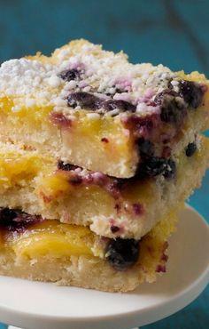 Lemon Blueberry Bars with Coconut Crust