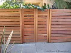 Love the modern fence