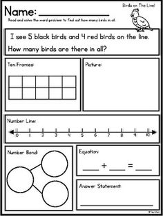 Addition and Subtraction Themed Word Problems (within Math Addition, Addition And Subtraction, Subtraction Kindergarten, Subtraction Worksheets, Kids Worksheets, Math Resources, Maths, Math Fractions, Multiplication