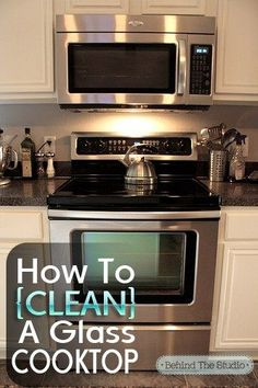 Cleaning Glass Cooktop with baking soda and water #cleaning @jayna