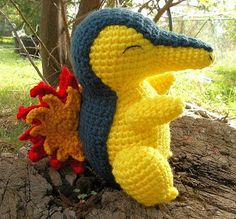 WolfDreamer: Cyndaquil Plushie and tons of other free Pokemon amigurumi patterns