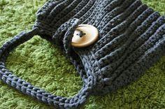 Anleitung: Große Häkeltasche aus Textilgarn - Lila Erdbeere Mehr