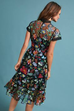 Slide View: 4: Janine Embroidered Dress