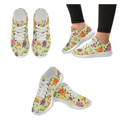 Daisy and Flowers Women's Running Shoes (Model 020)