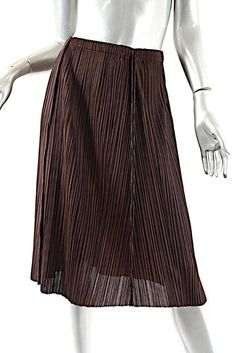 6299f4fb4f7d Pleats Please by ISSEY MIYAKE Burgundy 100% Polyester Pleated P O Skirt Sz  3  PleatsPleasebyIsseyMiyake  Pleated  Casual