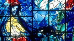 The Good Samaritan (Chagall, Stained Glass, contemporary, upstate NY)