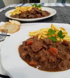 estofado belga a la cerveza carbonade flamande Stew, Deserts, Food And Drink, Meat, Base, 3, Foods, Drinks, Cook