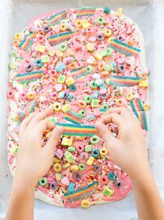 Magical Rainbow Unicorn Candy Bark