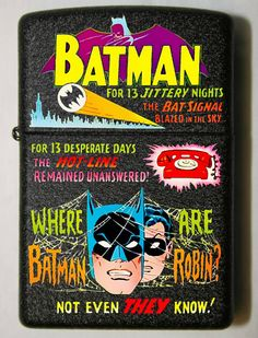 Cool Zippos, Custom Zippo, Zippo Collection, Pocket Light, Zippo Lighter, Incredible Hulk, Old And New, Cool Pictures, Batman