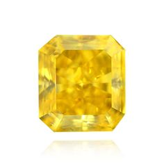 Yellow Diamond, Radiant, Fancy Vivid Yellow, 0.58 Carat