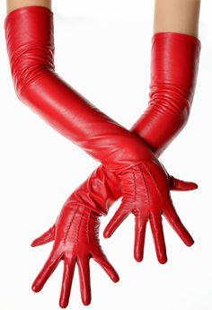 Best Gloves, Long Gloves, Leather Driving Gloves, Leather Gloves, Sheep Leather, Red Leather, Gloves Fashion, Etsy, Ladies Gloves