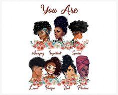 Black Love Art, Black Girl Art, My Black Is Beautiful, Black Girl Magic, Black Girls, Beautiful Artwork, Beautiful Images, Natural Hair Art, Natural Hair Styles