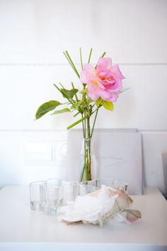 style me pretty - real wedding - spain - ibiza wedding - reception decor - table decor - centerpiece - tea rose