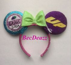 Pixar's Up inspired Minnie Mouse ears headband. These were a custom request out of my Etsy shop,EarzbyBecDeazz.