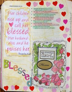 Vintage Grace-Blessed; Proverbs in journaling Bible