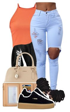 """""""alrriggght"""" by original-menace ❤ liked on Polyvore featuring NIKE, Furla and Louis Vuitton"""