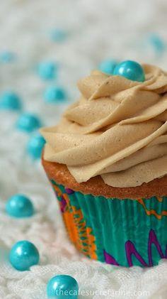Vanilla Bean Cupcakes w/ Caramel Buttercream