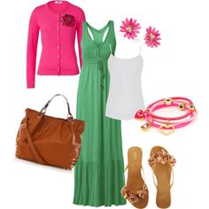 """""""Green and Pink"""" by monemaantje on Polyvore"""