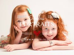 Natural Children's Portraits by Myfoto #childrensphotography #childrensportraits #portraits #sisters #redheads