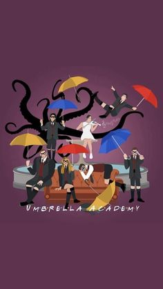 Films Netflix, Shows On Netflix, Movies And Series, Tv Series, Hunger Games, Friends Theme Song, Dysfunctional Family, Under My Umbrella, Umbrella Art