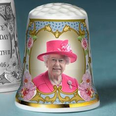 Queen''s 90th Birthday Thimble