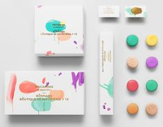 Anagrama | Bonnard - Mexican french-inspired tea & confectionary shop. The brand's distinct brush strokes and color selection are based on Pierre Bonnard's postimpressionist paintings.