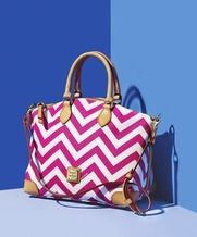Dooney & Bourke Chevron Satchel from Macy's $218.00