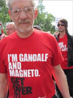 Because Sir Ian McKellen is awesome. joatclothing Because Sir Ian McKellen is awesome. Because Sir Ian McKellen is awesome. Gandalf, I Smile, Make Me Smile, Sir Ian Mckellen, Get Over It, The Hobbit, Laugh Out Loud, Laugh Laugh, Cool Stuff