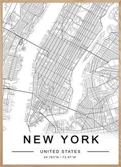 NEW YORK MAP #manhattan #newyork #new #york #city #map #citylover #themiuusstudio #homedecor #printablemap #