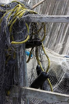 Spectacular fishing net still life capture!!! Beautiful light, color and shadows!