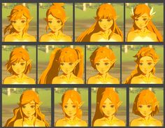Wind waker zelda wins hands down<<I like the second one from the left, bottom:) I feel like her hairstyle in BOTW was bland, but thats just me